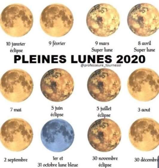 Flavie Dode Naturopathie Réflexologies Bien-être Pleine Lune 2020 soin intuitif de lune