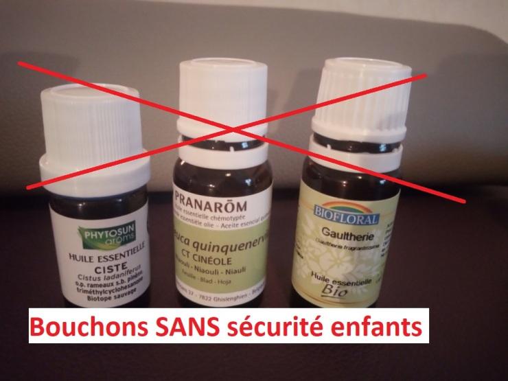 Huile essentielle aromathérapie olfactothérapie astuces parents enfants danger attention bouchon SANS sécurité naturopathie