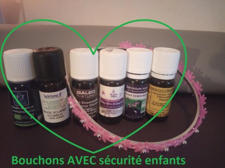 Huile essentielle aromathérapie olfactothérapie astuces parents enfants bouchon sécurité naturopathie
