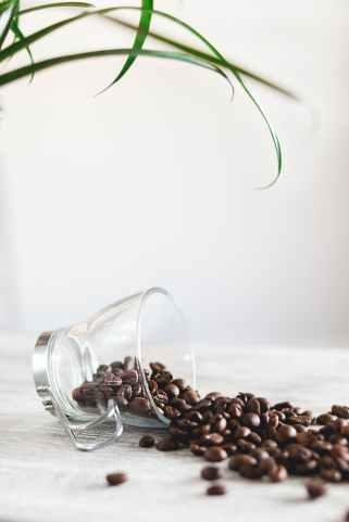 aromatique cafe grains de cafe grande tasse