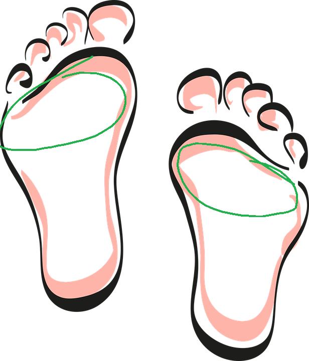 pieds zone réflexe système respiratoire