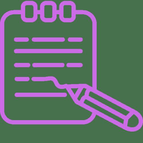 bloc note liste listing to do list état des lieux écrire